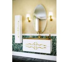 Due amanti 100 Тумба с умывальником подвесная белая с золотыми ручками с раковиной Elegance Aqwella «Clarberg»