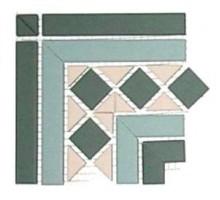 BELFAST Corner 16,5*16,5 cm угол керамогранит наборный TOP CER