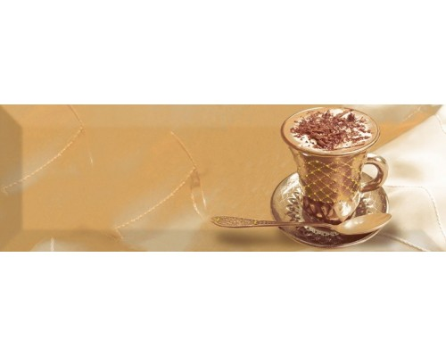 Decor Coffee Gold B 10*30 декор ABSOLUTE KERAMIKA