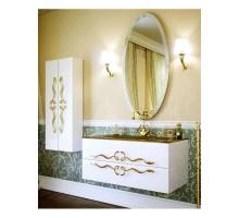 Due amanti 120 Тумба с умывальником подвесная белая с золотыми ручками с раковиной Elegance Aqwella «Clarberg»