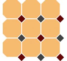 Octagon 4421 OCT20+14-B White OCTAGON 16/Brick Red 20 + Black 14 Dots 30*30 см керамогранит наборный TOP CER