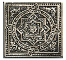 Beni-mamet Shined brass 6*6 вставка для напольной плитки MONELI DECOR