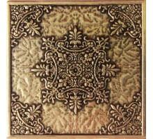 Luxor Shined brass 7,5*7,5 вставка для напольной плитки MONELI DECOR