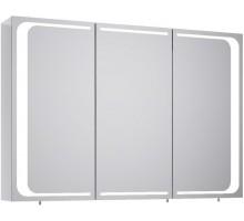 MILAN 100 шкаф-зеркало с подсветкой, белый AQWELLA