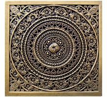 Rosal Shined brass 6*6 вставка для напольной плитки MONELI DECOR