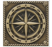 Windrose Satined brass 5*5 вставка для напольной плитки MONELI DECOR