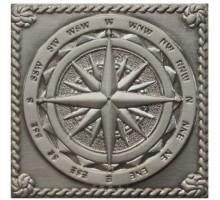 Windrose Satined silver 5*5 вставка для напольной плитки MONELI DECOR