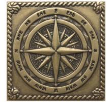 Windrose Shined brass 5*5 вставка для напольной плитки MONELI DECOR