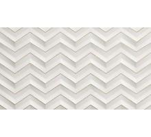 3D WHITE WALL White Chevron Glitter Matt 30,5*56 декор ATLAS CONCORDE