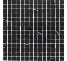 Black Polished 20*20 мозаика из мрамора 305*305 Starmosaic