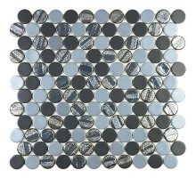 Circle Aqua Black Mix 30,6*31,4 мозаика стеклянная VIDREPUR