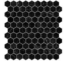 Hex Supreme Marquina Malla 31,7*30,7 мозаика стеклянная VIDREPUR