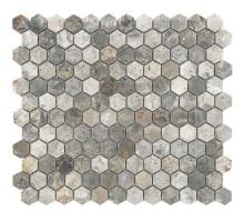 Hexagon VLgP 23*23 мозаика из мрамора 300*300 Starmosaic