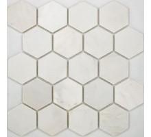 Hexagon VMw Tumbled 64*74 мозаика из мрамора 305*305 Starmosaic