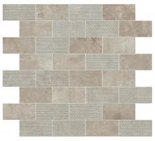 Aix Cendre Minibrick Tumbled 30.5*30.5 мозаика ATLAS CONCORDE ITALY