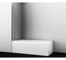 Шторка на ванну Berkel 48P01-80 80*140 профиль хром WASSERKRAFT