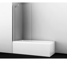 Шторка на ванну Berkel 48P01-80 Fixed 80*140 профиль хром WASSERKRAFT
