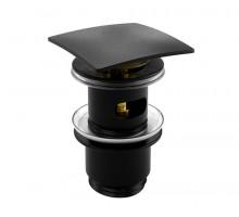 ELBE 7400 A164 Донный клапан Push-up черный WASSERKRAFT