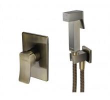A01652 Встраиваемый комплект для биде со шлангом 150 см бронза WASSERKRAFT