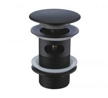ABENS 2000 A080 Донный клапан Push-up с переливом черный WASSERKRAFT