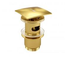 AISCH 5500 A165 Донный клапан Push-up золото WASSERKRAFT
