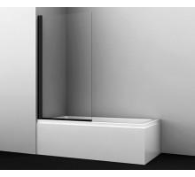 Шторка на ванну Berkel 48P01-80BLACK 80*140 профиль черный WASSERKRAFT