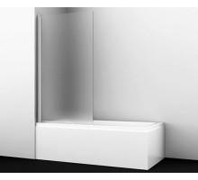 Шторка на ванну Berkel 48P01-80L Matt glass 80*140 профиль хром WASSERKRAFT