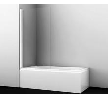 Шторка на ванну Berkel 48P01-80WHITE 80*140 профиль белый WASSERKRAFT