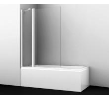Шторка на ванну Berkel 48P02-110WHITE Fixed 110*140 профиль белый WASSERKRAFT