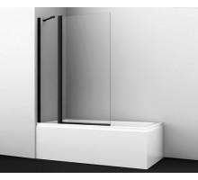 Шторка на ванну Berkel 48P02-110BLACK Fixed 110*140 профиль черный WASSERKRAFT