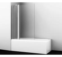 Шторка на ванну Berkel 48P02-110L Matt glass Fixed 110*140 профиль хром WASSERKRAFT