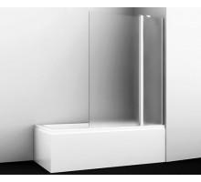 Шторка на ванну Berkel 48P02-110R Matt glass Fixed 110*140 профиль хром WASSERKRAFT