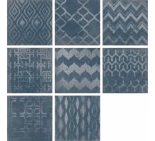 CUADRADO GLAM Blue (8 дизайнов) 23,5*23,5 керамогранит ATRIVM