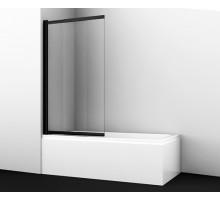 Шторка на ванну Dill 61S02-100 100*140 профиль черный WASSERKRAFT
