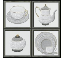 Garden Dec Tea Cold (4 варианта) 15*15 декор HERALGI