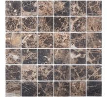 Dark Emperador Matt 48*48 мозаика из мрамора 305*305 Starmosaic