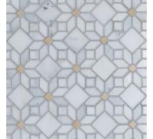 Мозаика Camomile (Oriental Whtie+AnticGold) Pol. 30,5*30,5 мрамор ORRO