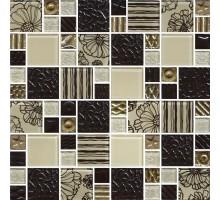 Мозаика МС 2168 30*30 стекло Роскошная мозаика