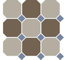 Octagon 4401+29 OCT11-A Beige 01 Coffe Brown 29 OCTAGON/Blue Cobalt 11 Dot 30*30 см керамогранит наборный TOP CER