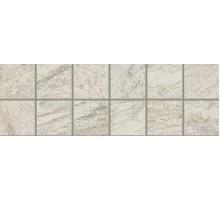 Alpi Bianco Fascia Mosaico АЛЬПЫ белый бордюр 10*30 COLISEUMGRES