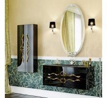 Due amanti 100 Тумба с умывальником подвесная черная с золотыми ручками с раковиной Elegance Aqwella «Clarberg»