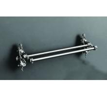 ATHENA Двойной полотенцедержатель, 60 см серебро AM-0618-T ART&MAX