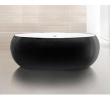 BB18-NERO/BIA 1800*900*590 черная Ванна акриловая Belbagno