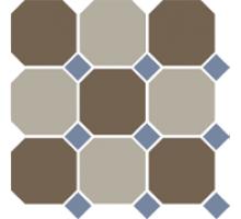 Octagon 4429+01 OCT11-B Coffe Brown 29 Beige 01 OCTAGON/Blue Cobalt 11 Dots 30*30 см керамогранит наборный TOP CER