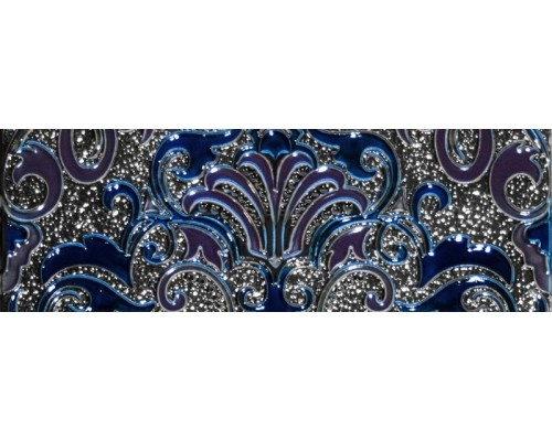 Decor Damasco Cobalto 10*30 декор ABSOLUTE KERAMIKA