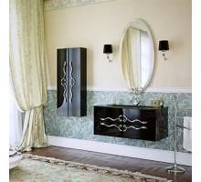 Due amanti 100 Тумба с умывальником подвесная черная с хром.ручками с раковиной Elegance Aqwella «Clarberg»