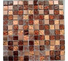 Мозаика 012 стекло/камень 300*300*6 KERAMOGRAD