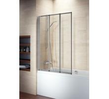 Шторка на ванну ALTA VZ 1000*1400 прозр. стекло, сатин хром RIHO