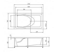 АКСИОМА панель для ванны фронтальная AQUATIKA