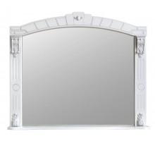 АЛЕКСАНДРИЯ 100 Шкаф зеркальный слоновая кость с серебряной патиной ATOLL